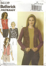 Butterick B6139 Vest and Jacket Sewing Pattern size 6-14