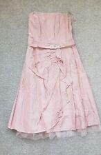 Debenhams Debut Bridesmaid Prom Dusty Pink Dress UK8 Worn Once Cost £100 New