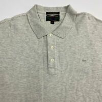 Alexander Julian Colours Polo Shirt Men's 2XL XXL Short Sleeve Gray 100% Cotton