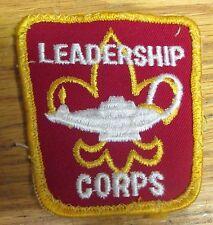 USA ? Vintage Boy Scout Uniform Cloth Badge Patch - Leadership Corps