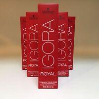 Schwarzkopf Professional Igora Royal Hair Color 2.1 Oz YOUR CHOICE