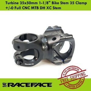 "Race Face Turbine 35x50mm 1-1/8"" Bike Stem 35 Clamp +/-0 Full CNC MTB DH XC Stem"