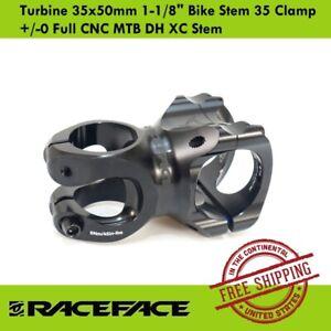 "Race Face Turbine 35x50mm 1-1/8"" Bike Stem 35 Clamp +/-0 Full CNC MTB DH XC Stem"