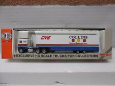 """Ho Scale ConCor #0004-001021  Freightliner Tractor w/trailer """"Collins Moving"""""""