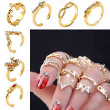 USA 7Pcs Set Womens Popular Bowknot Knuckle Midi Mid Finger Tip Stacking Rings