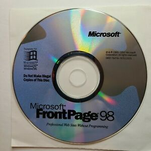 Microsoft Frontpage 98, 1995-1997 CD install disk