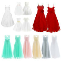 Flower Girl Dress Princess Kids Party Wedding Prom Formal Gown Birthday Dresses