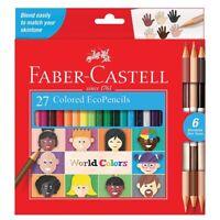 Faber-Castell World Colors Colored EcoPencils 27-Count Set