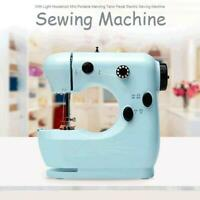 Portable Electric Sewing Machine Desktop Household Tailor 2 Speed Foot Pedal
