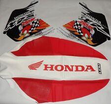 Honda XR 250R XR250 R XR 250 R , KIT Tank decals & Seat Cover GRIPPER, graphics