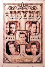 "N SYNC - Faces no strings  rare POSTER - MUSIC 22.25"" X 34.50"" NOS (b211)"