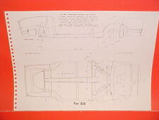 1970 FIAT 850 CONVERTIBLE RACER 124 SPIDER COUPE SEDAN FRAME DIMENSION CHART