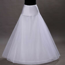 1 Hoop 2 Tier Voile Wedding Bridal Crinoline Petticoat Underskirt Dress Skirt