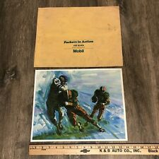 1966 Green Bay Packers in Action #2 The block Print Vintage Mobil Oil Promo VTG