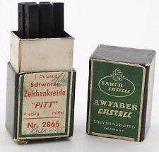 Vintage A.W.Faber Castell Schwarz Zeichenkreide Pitt 2865 crayon chalk black