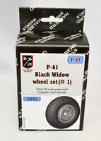 Halberd Models P-61 Black Widow wheel set #1 1/32 for Hobby Boss