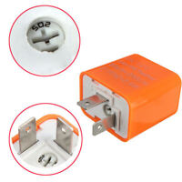 2-Pin Electronic adjustable LED Flasher Relay Motorcycle Turn Signal Hyper Flash