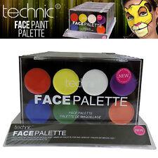 Technic - 8 Colour Face Paint Pressed Powder Palette Halloween Goth MakeUP