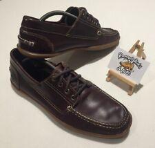 Barco De Cuero Timberland 4-Eye Odelay Zapatos con cordones marrón oscuro UK 9 Cubierta Essex