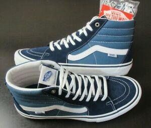 Vans Men's Sk8-Hi Pro Navy Stv White Canvas Suede Hi Top Skate shoes Size 12 NEW