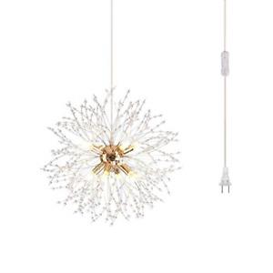 Dellemade DD00861 Plug in Sputnik Chandelier 8-Light Golden Luxurious Pendant