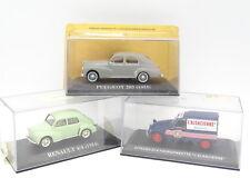 Ixo Presse 1/43 - Lot de 3 : Renault 4CV - Peugeot 203 - Citroen 2CV Alsacienne