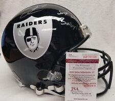 DEREK CARR Autographed Oakland Raiders Custom Full Size Helmet. WITNESS JSA