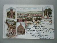 Ansichtskarte Hameln 1898  Litho