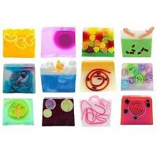 Colorful affettato sapone Gift Set di dodici 100% fatto a mano regalo di Natale