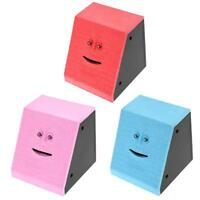 Cute Face Electric Money Saving Box Safe Eating Coin Piggy Bank Money Saving Box
