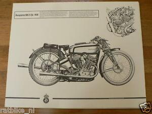 HELMUT KRACKOWIZER RENNMOTORRAD POSTER HUSQVARNA 500 2 ZYL. 1935