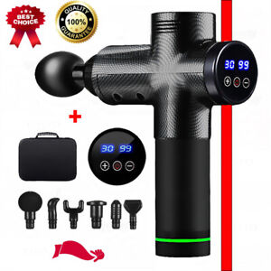 Massage Gun LCD Display Deep Muscle Massager Pain Body Exercising Relaxation