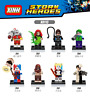 Baukästen Figur 8PCS Super Hero Joker-Harley Quinn-Poison Ivy-Catwoman-Deadshot
