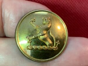 HARVEY Family DEMI-OUNCE (LEOPARD) GUARDANT 3 TREFOILS 25mm GILT LIVERY BUTTON