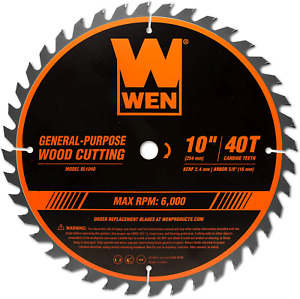 Woodworking Saw Blade For Miter Table Saws 10 Inch 40 Tooth Carbide Tipped New