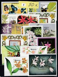 NV 50S/S - see 3 scans - MNH - NATURE - FLOWERS  - ORCHIDS  - FLORA - BUTTERFLY