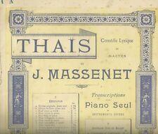 Spartito Musicale Thais di Jules Massenet per Pianoforte Solo Heugel Paris
