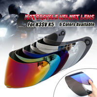 Full Face Motorcycle Wind Shield Helmet Lens Visor For K1 K3SV K5 Anti-Fog UV