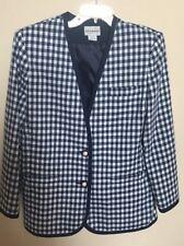 Haberdashery Blazer Jacket Suit Blazer Plaid Ladies Womens Size 16 P MADE IN USA