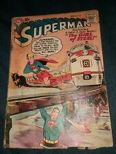 1958 SUPERMAN #123 PRE-ACTION #252 SUPERGIRL TRY OUT! Gd 1st appearance tv show