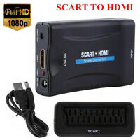 SCART to HDMI Converter Adapter Video Audio 1080P Upscale AV Signal Box TV DVD