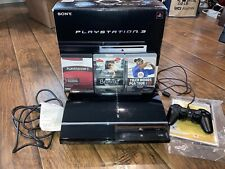 Sony PS3 Backwards Compatible Fat Console CECHA01 60GB Complete w/ Box & 3 Games