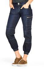 Damen Jeans Pump jeans Pumphose Cargo Taschen mit Leopard Einsätzen Gr. 38