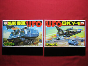 Set 2 UFO Sky-1 Jet + Shado Mobile Vintage Imai Model Kit Japan Gerry Anderson