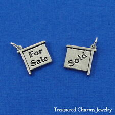 Silver REALTOR REAL ESTATE CHARM For Sale and Sold Sign HOUSE HOMEOWNER PENDANT
