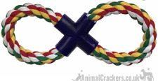 Chunky figure 8 DOG ROPE CHEW THROW TOY large dog heavy duty cotton Paw Prints