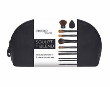 ASAP Pure Mineral Makeup Sculpt + Blend Brush Set Base & Loose Powder Foundation