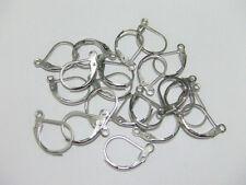 15pz ganci orecchini in ottone monachella chiusa  color argento scuro 10x13mm