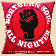 "Northern Soul Logo 16""x16"" 40cm Cushion Cover Vinyl LP Album Cover All Nighter"
