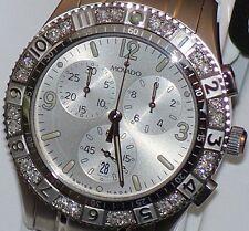New Mens movado gentry 0605068 Chrono 0.36ct.apx.custom set real Diamond watch